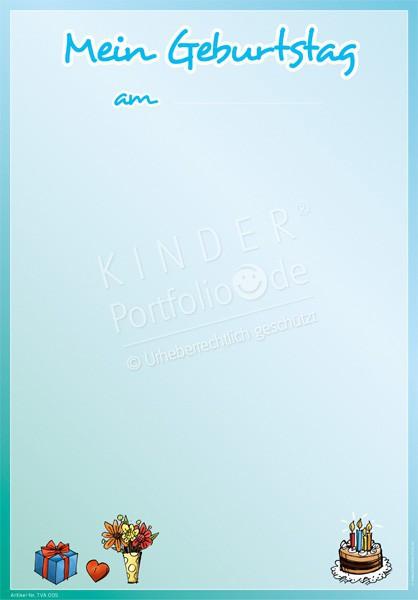 kindergarten portfolio vorlagen mein geburtstag am blau. Black Bedroom Furniture Sets. Home Design Ideas