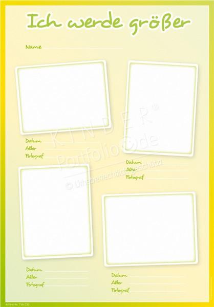Kindergarten Portfolio Vorlagen Wie Ich Mich 0