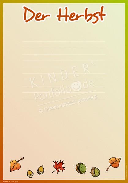 Kindergarten portfolio vorlagen der herbst for Angebote kindergarten herbst