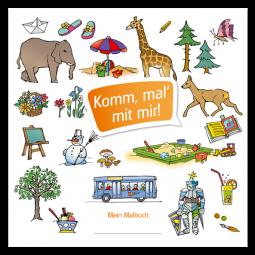 Kinder-Ausmalbuch - Komm, male mit mir! - Portfoliovorlage
