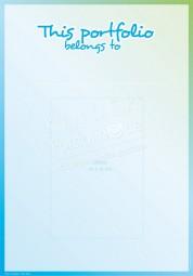 Dieses Porfolio gehört... (Blau-Grün) - Portfoliovorlage in Englisch