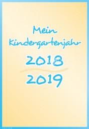 Mein Kindergartenjahr 2018 - 2019 - Portfoliovorlage
