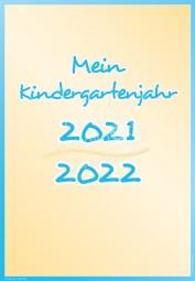 Mein Kindergartenjahr 2020 - 2021 - Portfoliovorlage