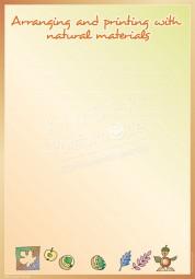 Mit Naturmaterial drucken und gestalten - Portfoliovorlage in Englisch