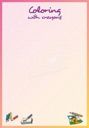 Ausmalen mit Buntstiften - Portfoliovorlage in Englisch