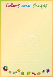 Farben und Formen - Portfoliovorlage in Englisch