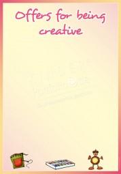 Kreativangebot - Portfoliovorlage in Englisch