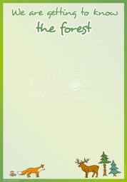 Wir erkunden den Wald - Portfoliovorlage in Englisch