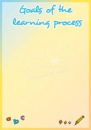 Lernziele - Portfoliovorlage in Englisch
