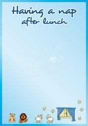 Mittagsschlaf - Portfoliovorlage in Englisch