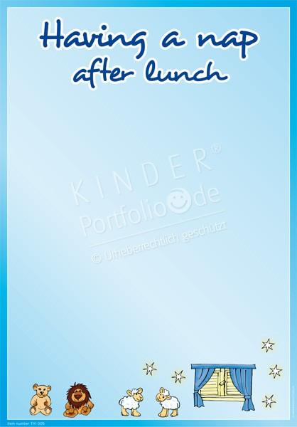 Mittagsschlaf Englisch