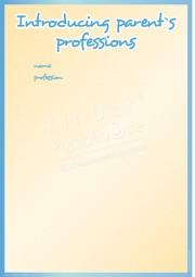 Elternberufe vorgestellt - Portfoliovorlage in Englisch