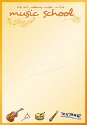Wir musizieren in der Musikschule - Portfoliovorlage in Englisch