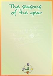 Die Jahresuhr - Portfoliovorlage in Englisch