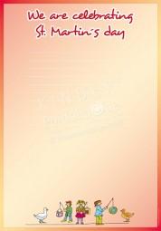 Wir feiern Martinstag - Portfoliovorlage in Englisch