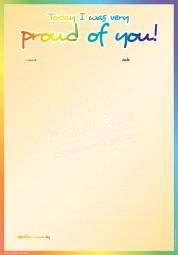 Heute war ich stolz auf Dich! - Portfoliovorlage in Englisch