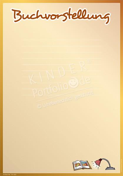 kindergarten portfolio vorlagen buchvorstellung. Black Bedroom Furniture Sets. Home Design Ideas