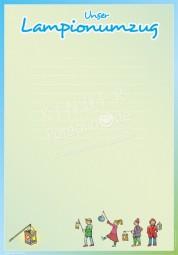 Unser Lampionumzug - Portfoliovorlage