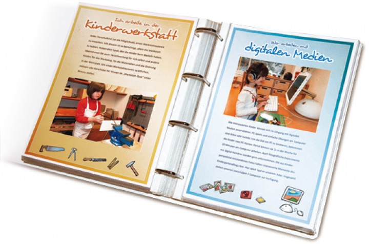 Kindergarten Portfolio Ordner Farbe Blau Layout 1